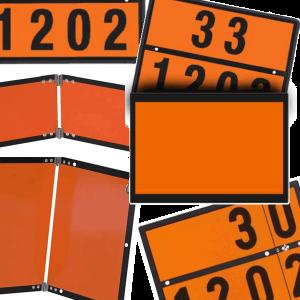 Orangefarbene Tafeln